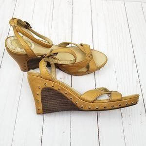 UGG Australia Studded Leather Wedge Sandals